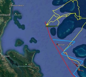 Glider U287 last tracking position map
