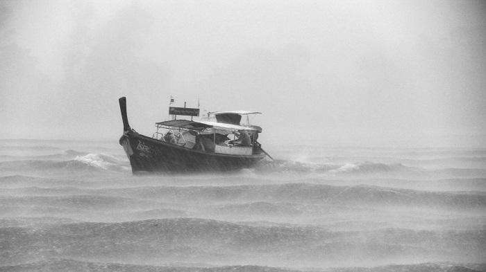 typhoon threaten fishing vessel