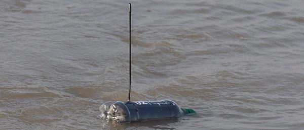 Bottle released in the water